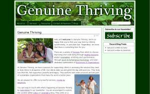 Genuine Thriving Homepage Screenshot